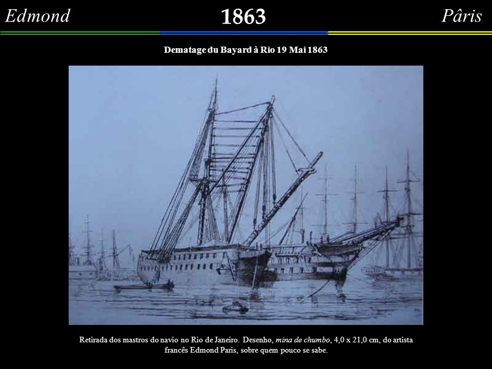 Dematage du Bayard à Rio 19 Mai 1863