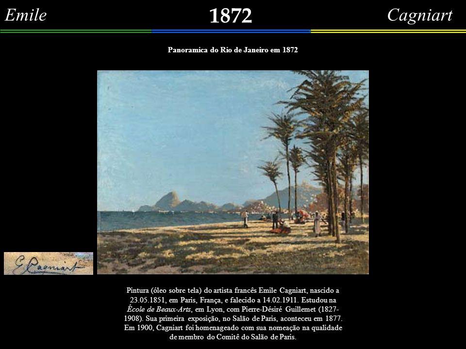 Panoramica do Rio de Janeiro em 1872