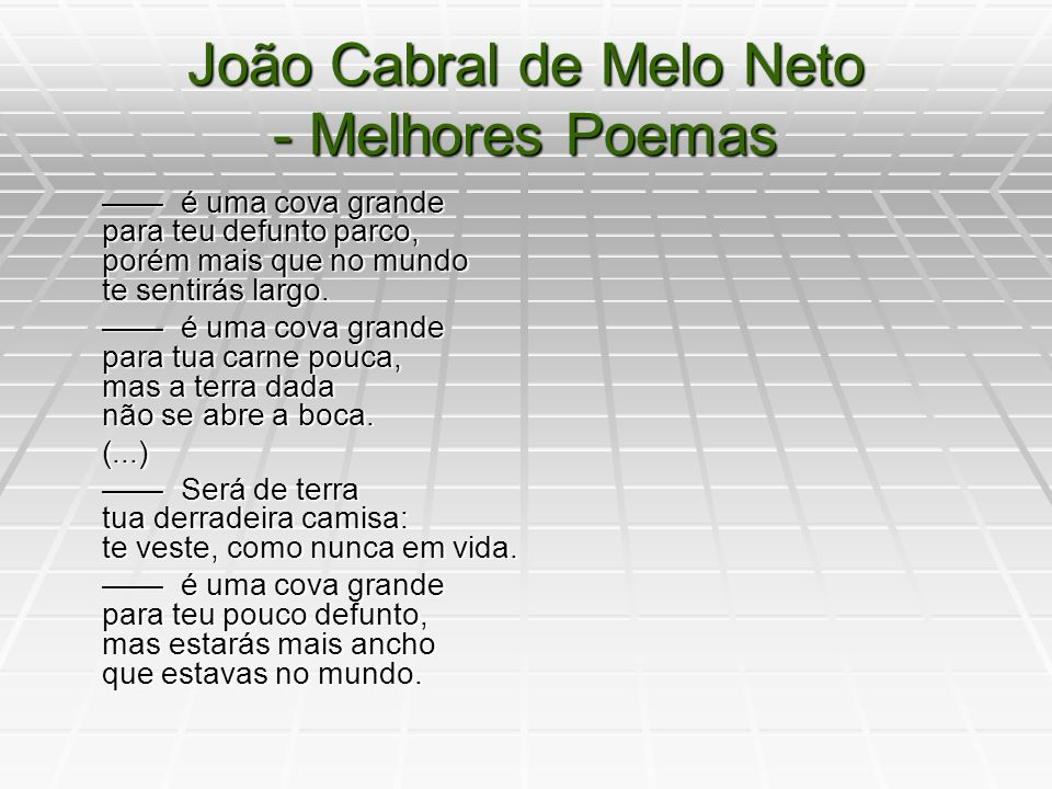 João Cabral de Melo Neto - Melhores Poemas