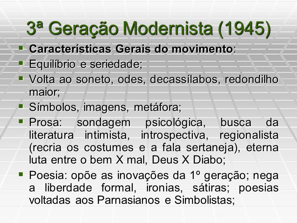 3ª Geração Modernista (1945)