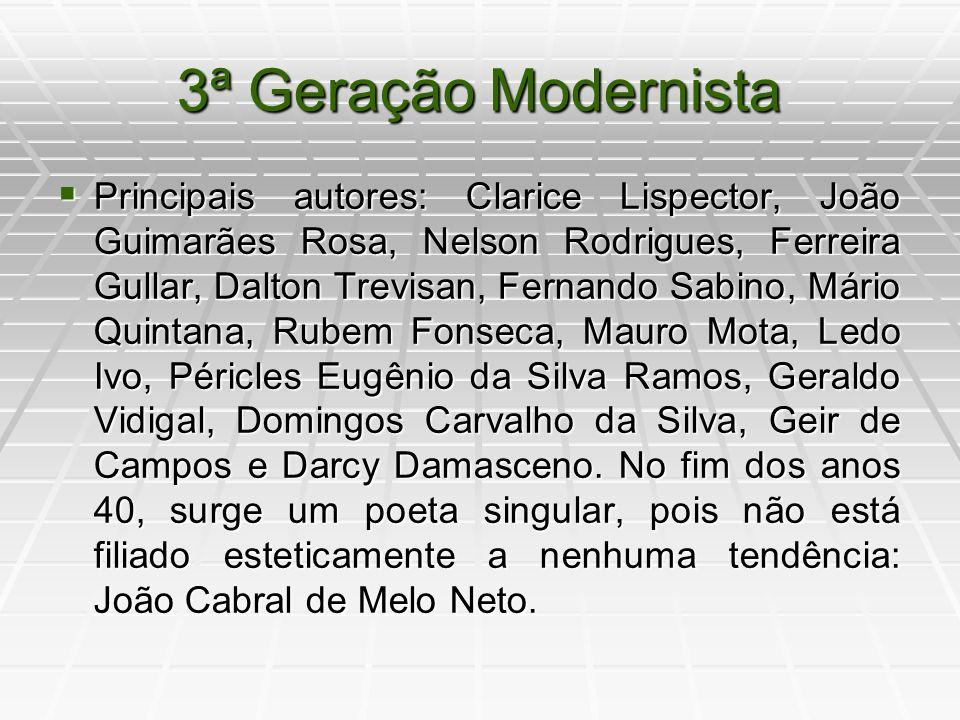 3ª Geração Modernista