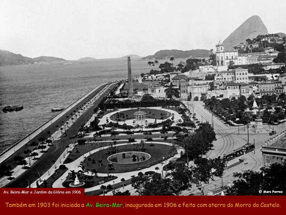 Av. Beira-Mar e Jardim da Glória em 1906