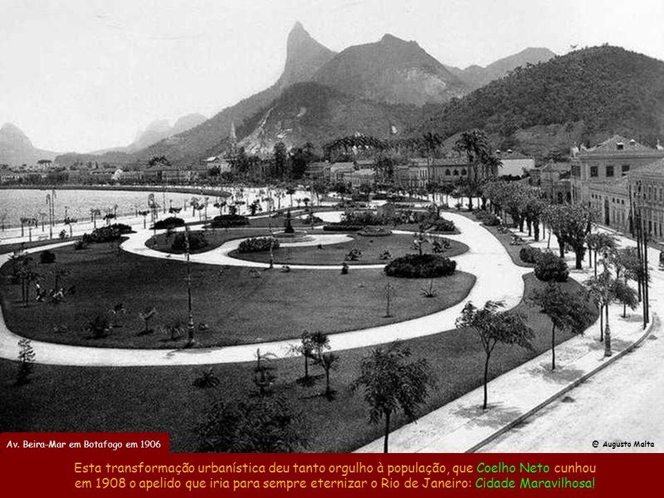 Av. Beira-Mar em Botafogo em 1906