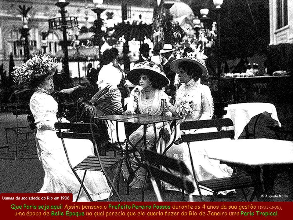 Damas da sociedade do Rio em 1908