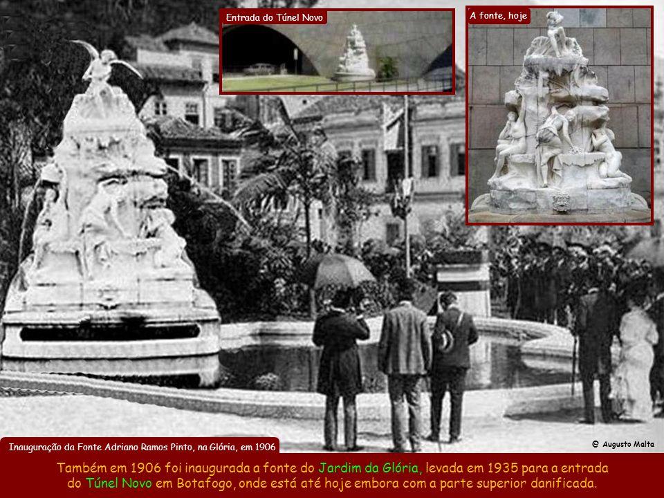 Inauguração da Fonte Adriano Ramos Pinto, na Glória, em 1906