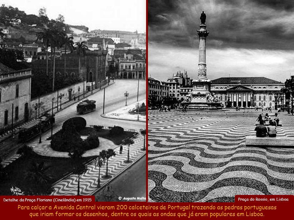 Detalhe da Praça Floriano (Cinelândia) em 1915
