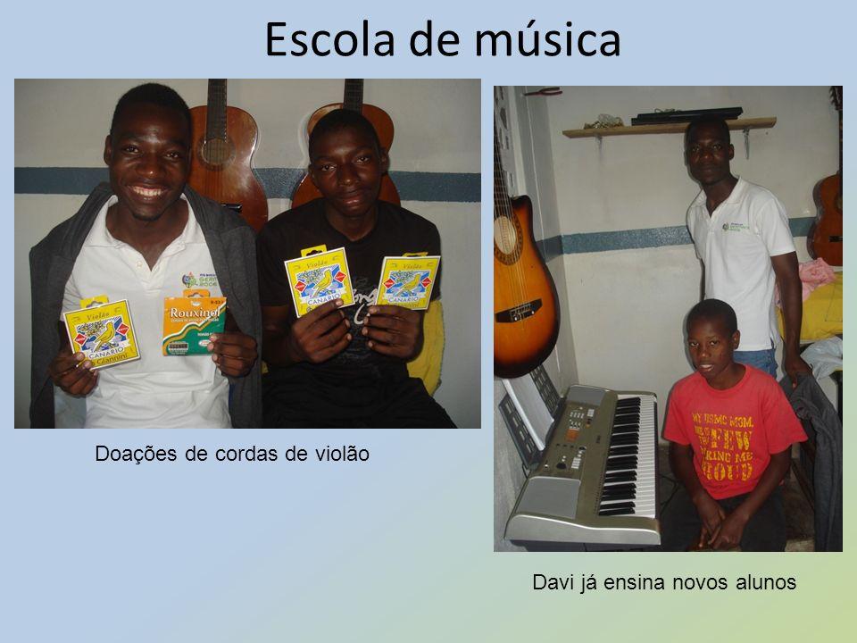 Escola de música Doações de cordas de violão