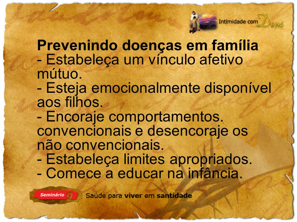 Prevenindo doenças em família