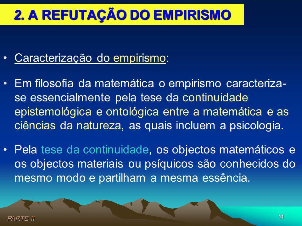 2. A REFUTAÇÃO DO EMPIRISMO