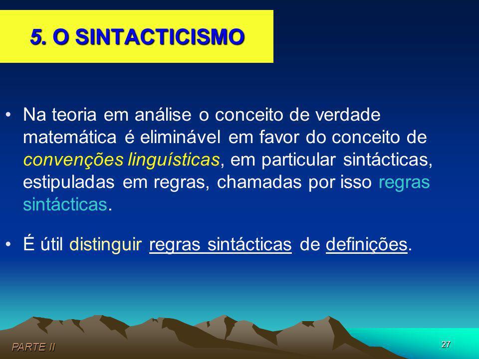 5. O SINTACTICISMO