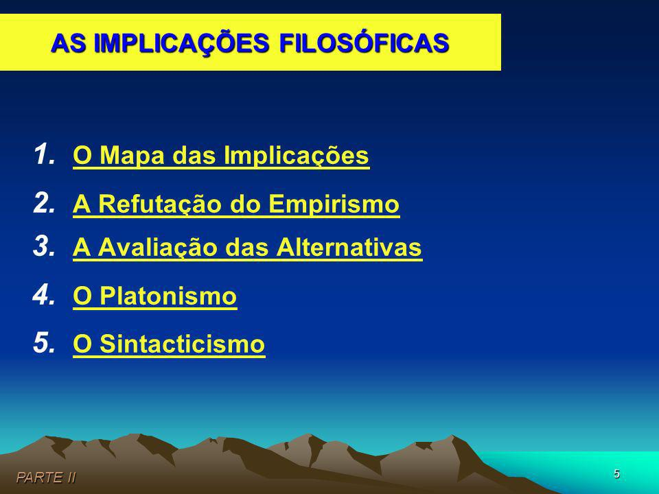 AS IMPLICAÇÕES FILOSÓFICAS