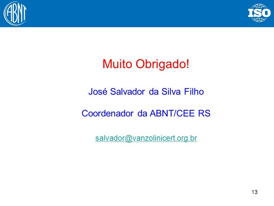 Muito Obrigado! José Salvador da Silva Filho