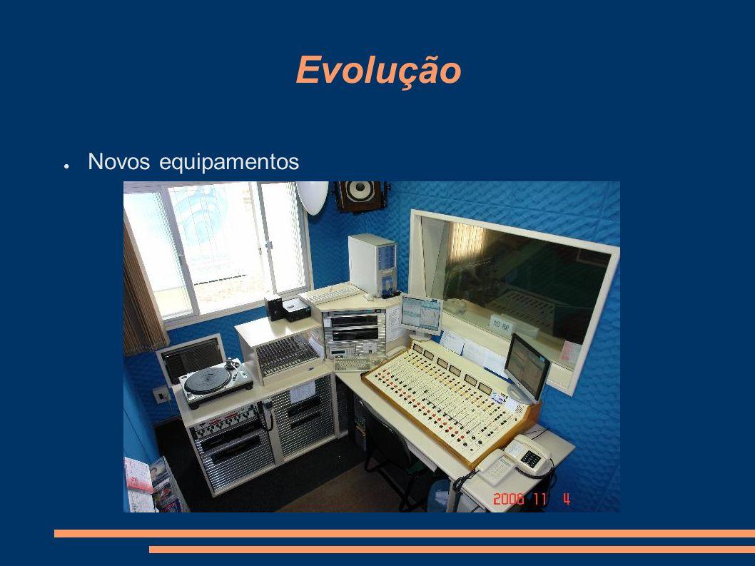 Evolução Novos equipamentos