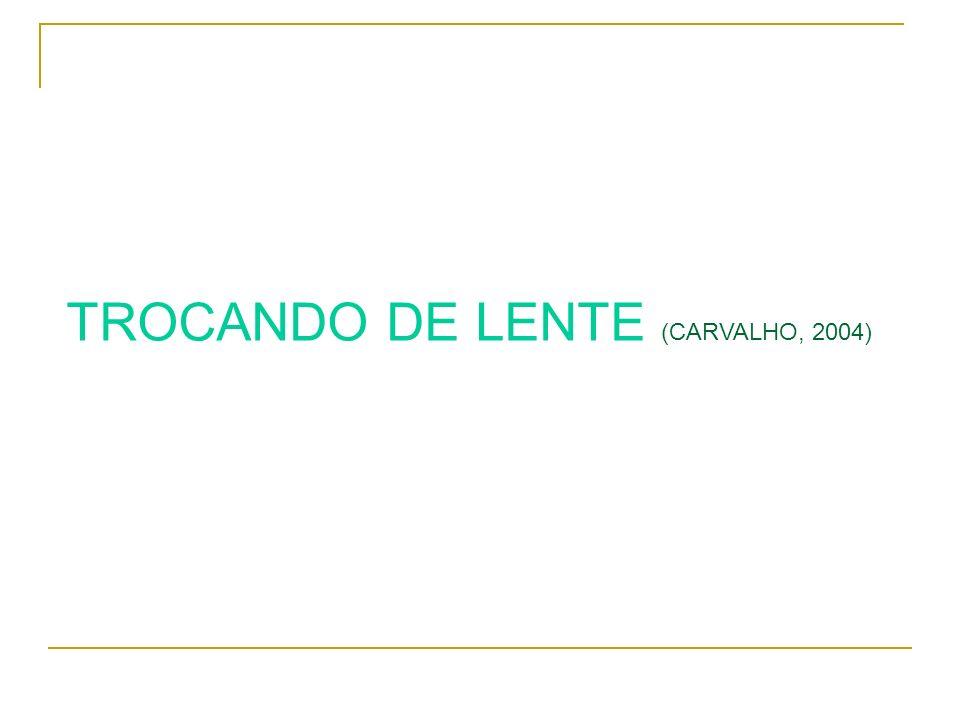 TROCANDO DE LENTE (CARVALHO, 2004)