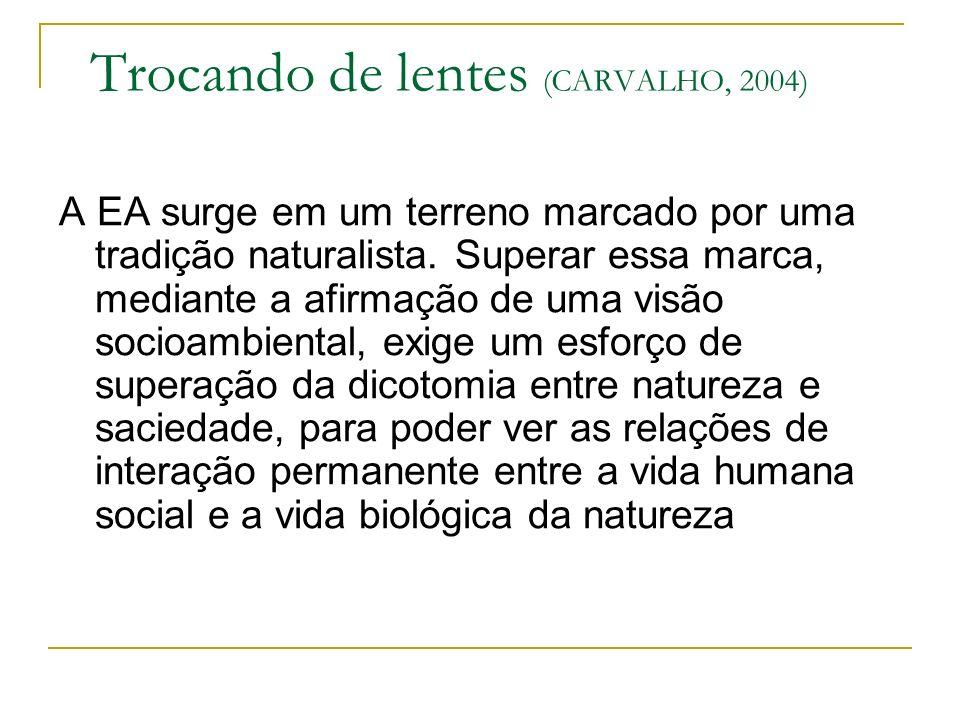 Trocando de lentes (CARVALHO, 2004)