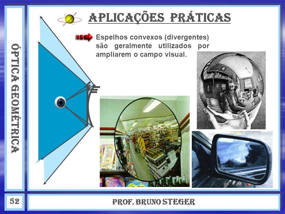 APLICAÇÕES PRÁTICAS ÓPTICA GEOMÉTRICA Prof. Bruno Steger 52