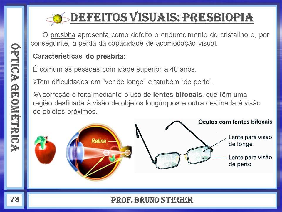 Defeitos visuais: Presbiopia