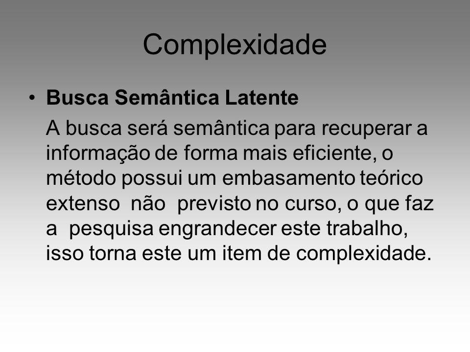 Complexidade Busca Semântica Latente