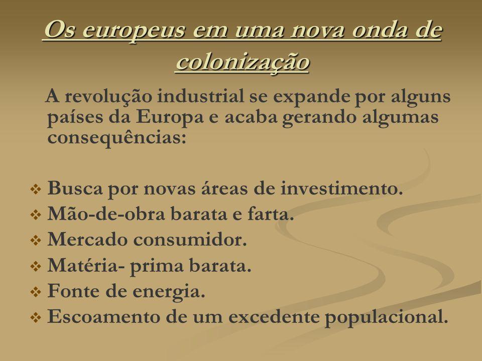 Os europeus em uma nova onda de colonização