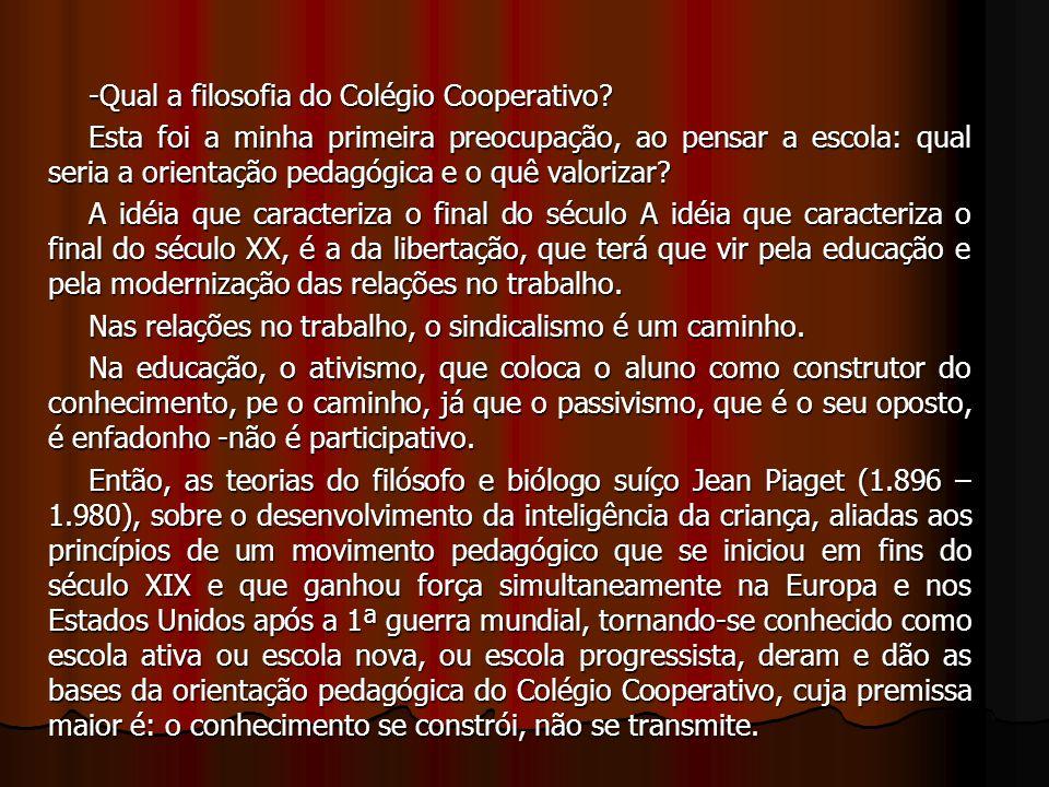 -Qual a filosofia do Colégio Cooperativo