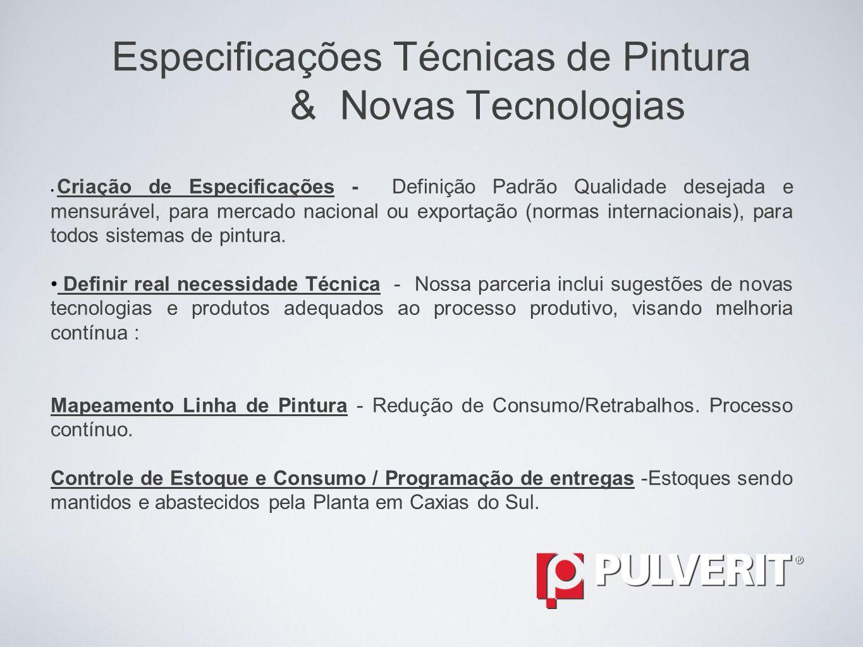Especificações Técnicas de Pintura & Novas Tecnologias