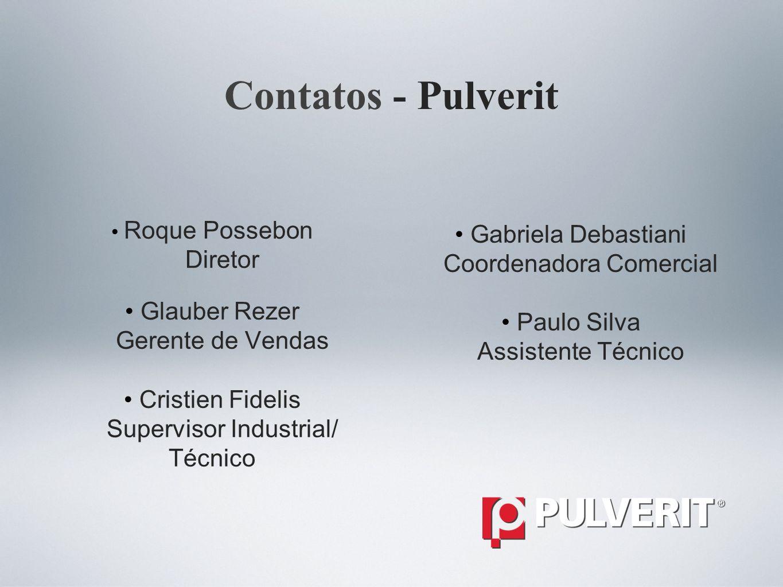 Contatos - Pulverit Gabriela Debastiani Diretor Coordenadora Comercial