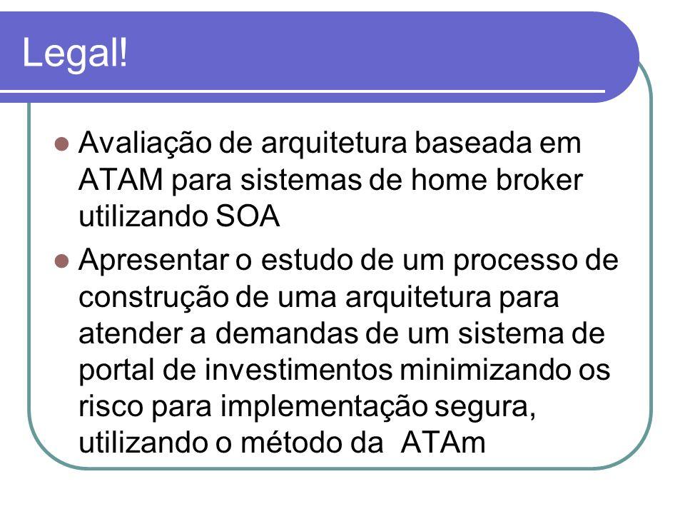 Legal! Avaliação de arquitetura baseada em ATAM para sistemas de home broker utilizando SOA.