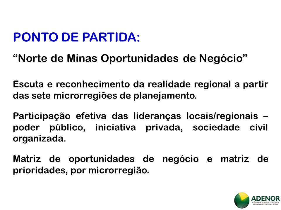 PONTO DE PARTIDA: Norte de Minas Oportunidades de Negócio