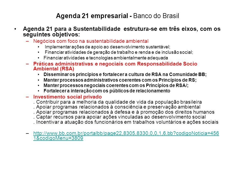 Agenda 21 empresarial - Banco do Brasil