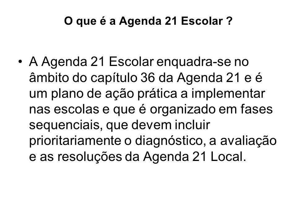 O que é a Agenda 21 Escolar