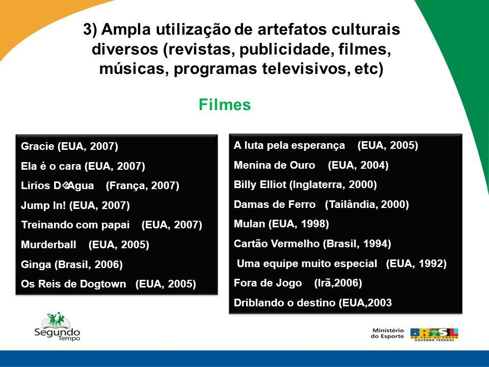 3) Ampla utilização de artefatos culturais diversos (revistas, publicidade, filmes, músicas, programas televisivos, etc)