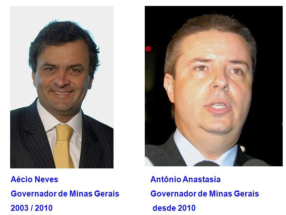 Aécio Neves Governador de Minas Gerais. 2003 / 2010. Antônio Anastasia. Governador de Minas Gerais.