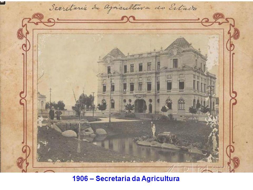 1906 – Secretaria da Agricultura