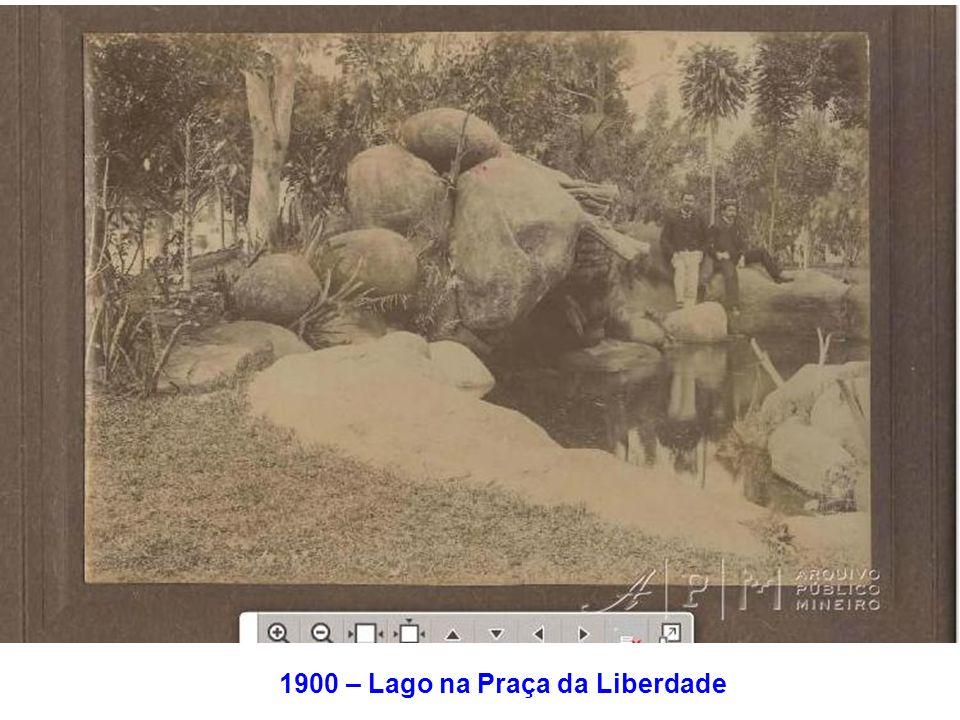 1900 – Lago na Praça da Liberdade