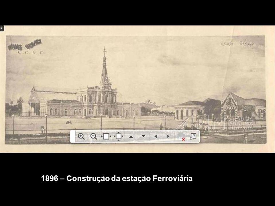 1896 – Construção da estação Ferroviária