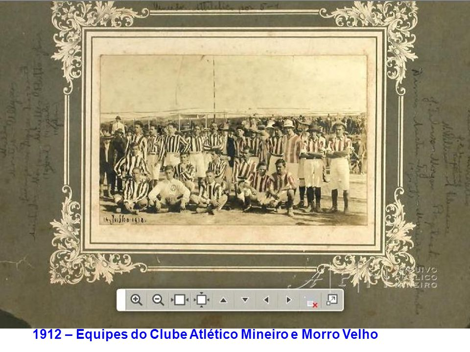 1912 – Equipes do Clube Atlético Mineiro e Morro Velho