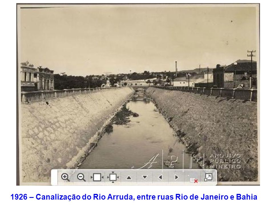 1926 – Canalização do Rio Arruda, entre ruas Rio de Janeiro e Bahia