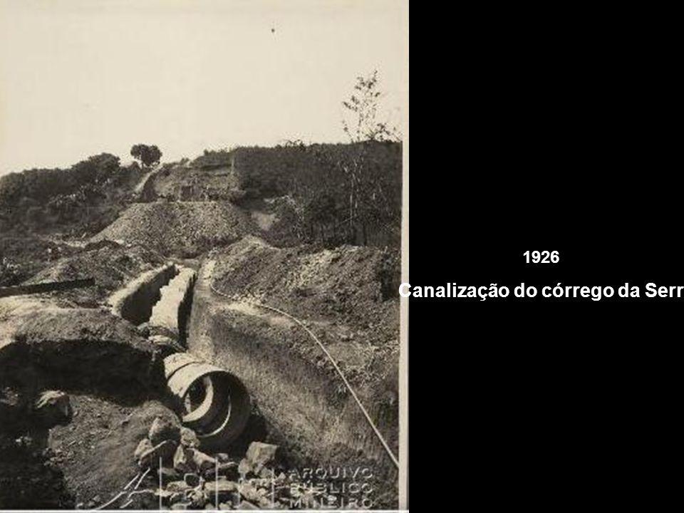 Canalização do córrego da Serra