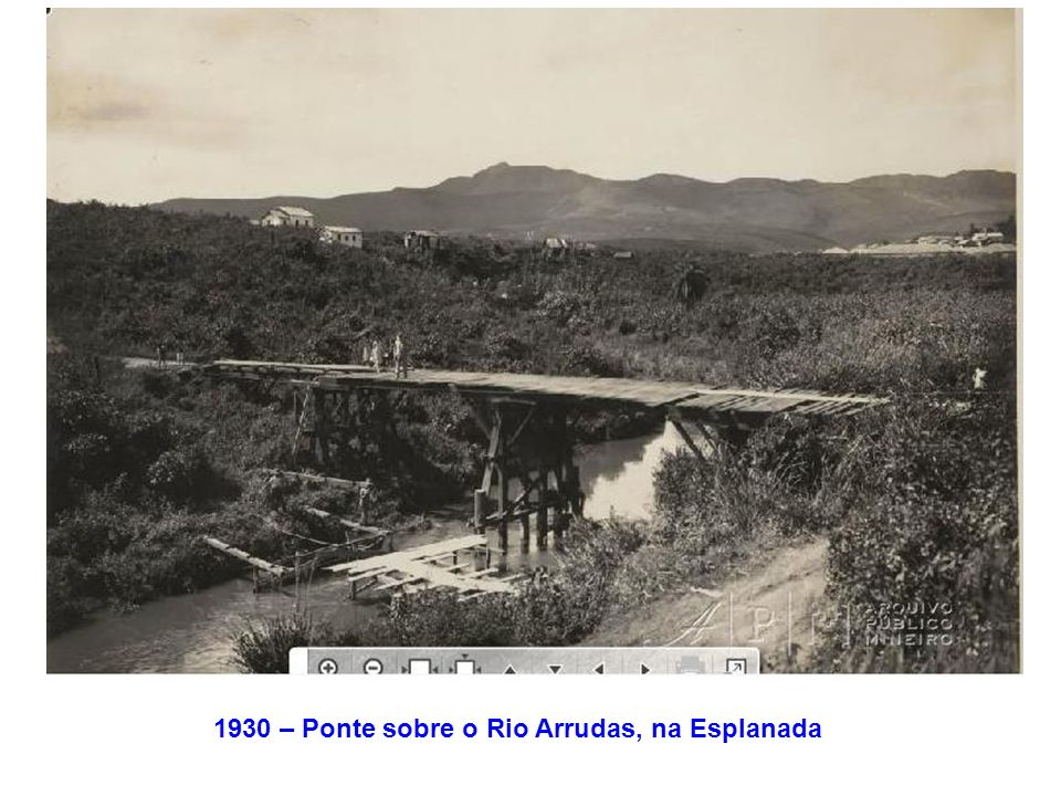 1930 – Ponte sobre o Rio Arrudas, na Esplanada