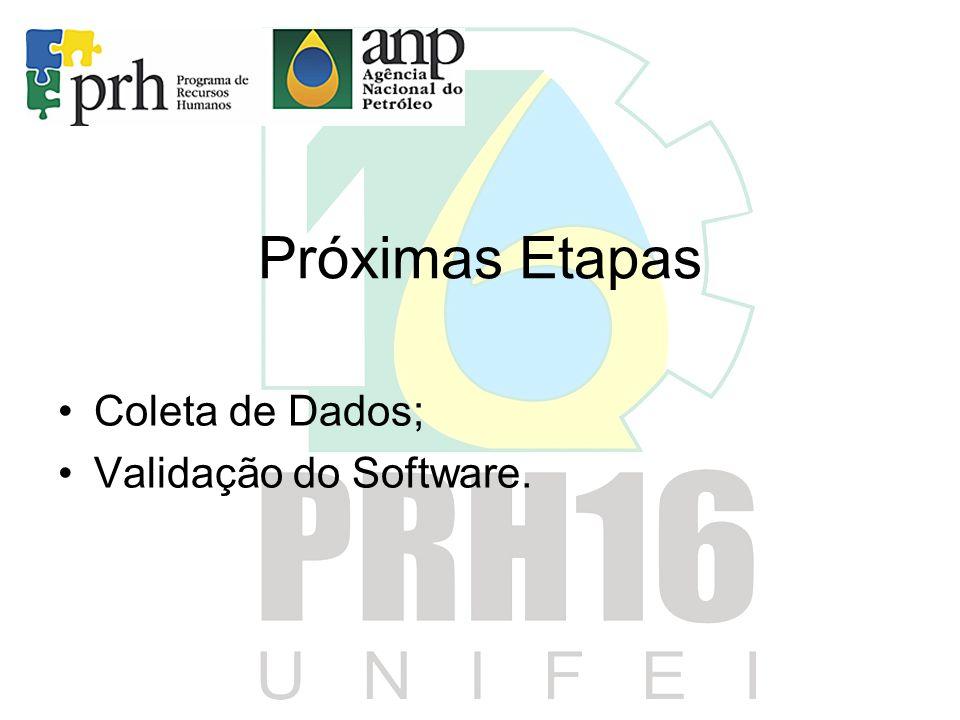 Próximas Etapas Coleta de Dados; Validação do Software.