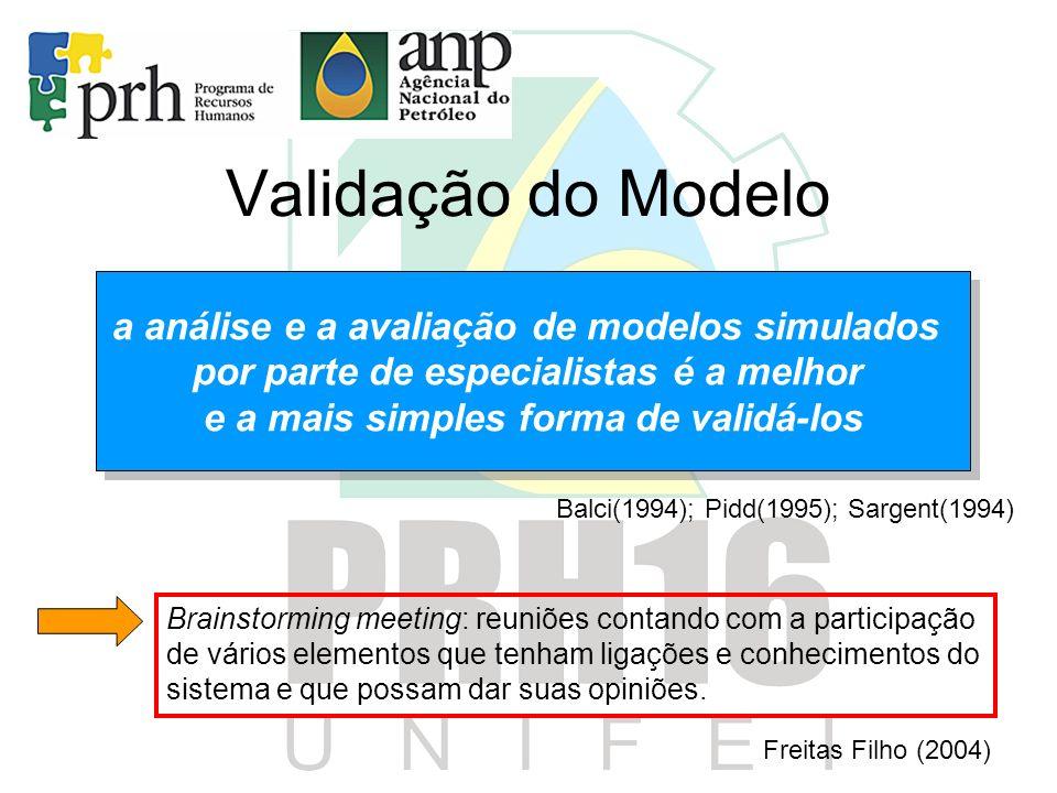 Validação do Modelo a análise e a avaliação de modelos simulados
