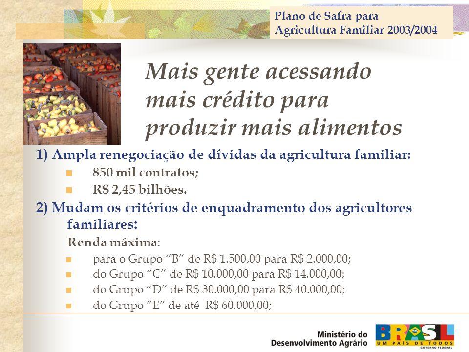 Mais gente acessando mais crédito para produzir mais alimentos