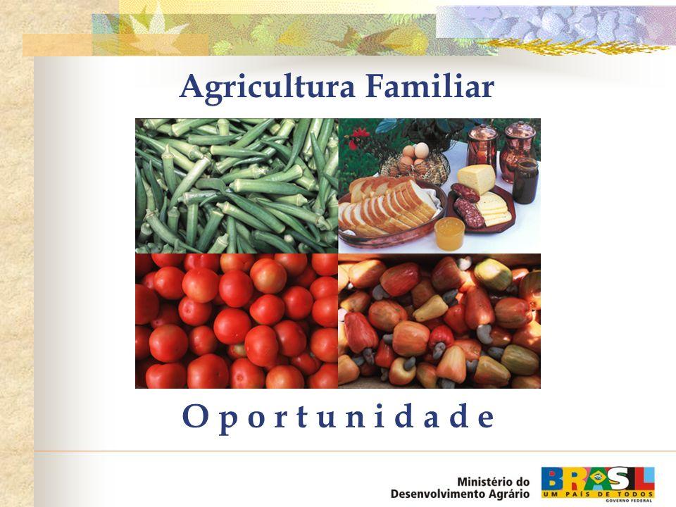 Agricultura Familiar O p o r t u n i d a d e