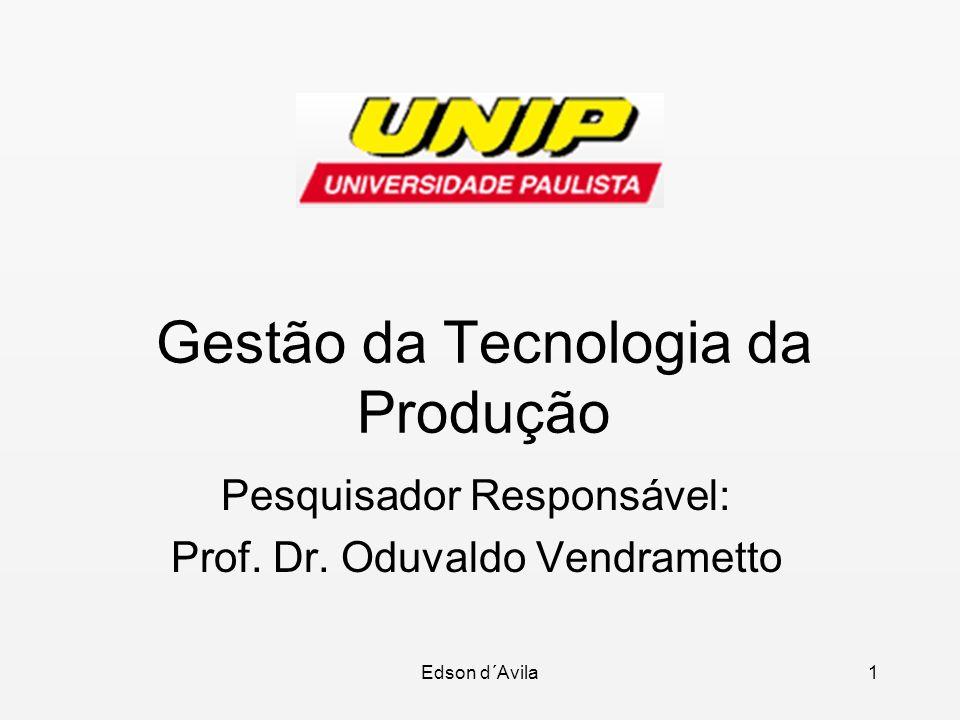 Gestão da Tecnologia da Produção