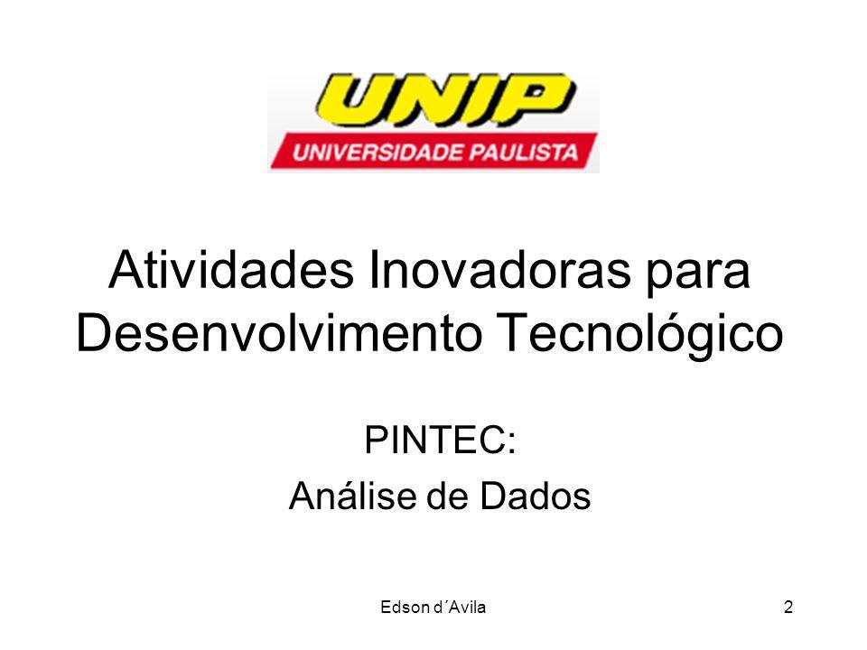 Atividades Inovadoras para Desenvolvimento Tecnológico