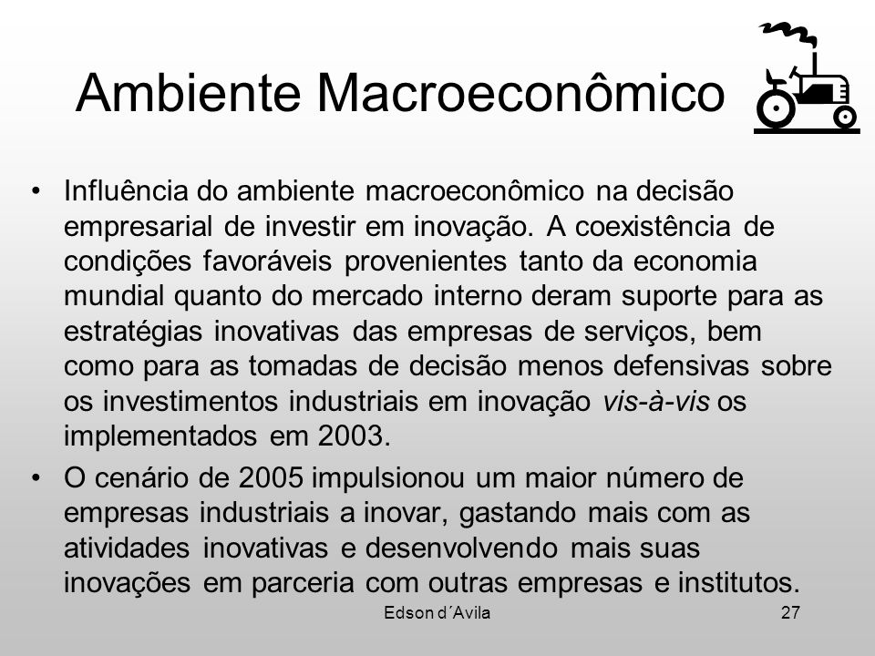 Ambiente Macroeconômico