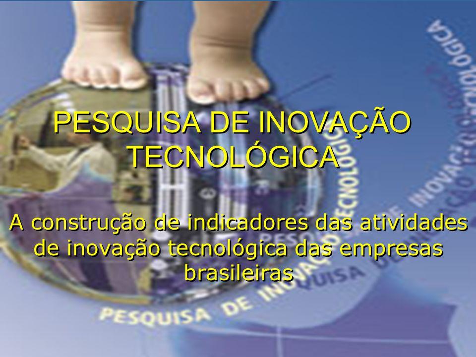 PESQUISA DE INOVAÇÃO TECNOLÓGICA