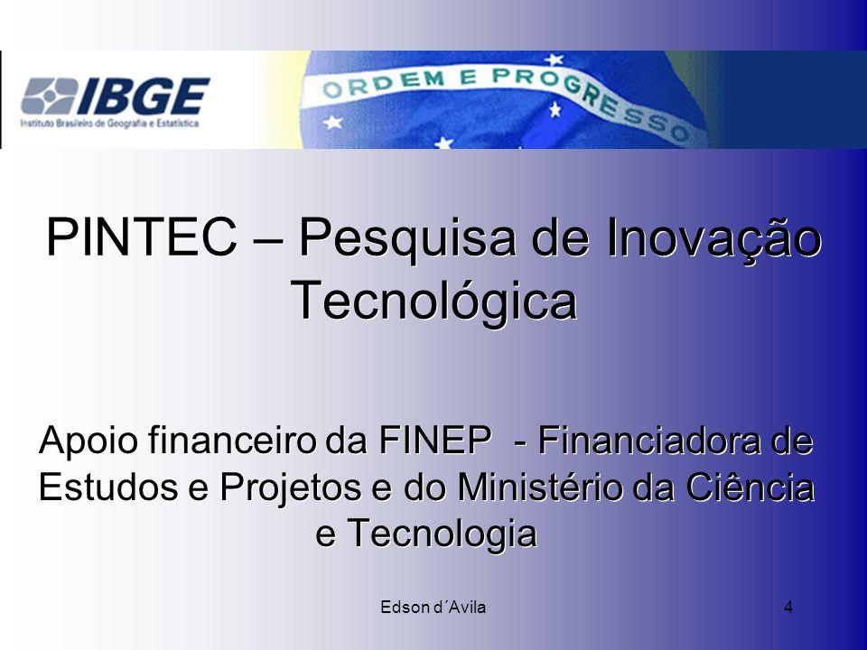 PINTEC – Pesquisa de Inovação Tecnológica
