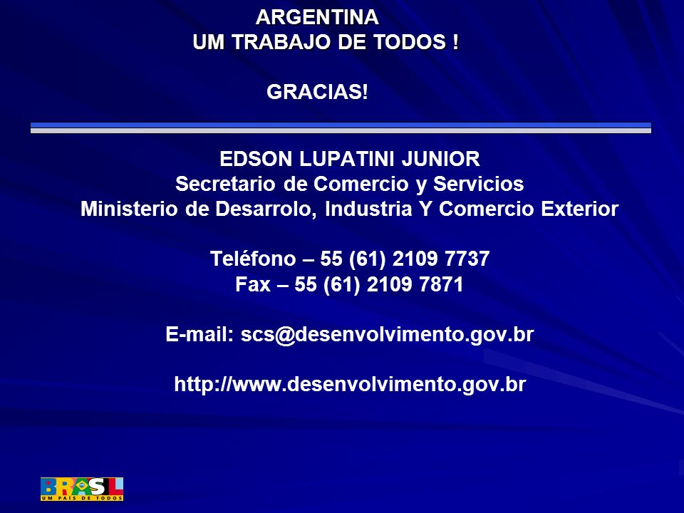 ARGENTINA UM TRABAJO DE TODOS ! GRACIAS!