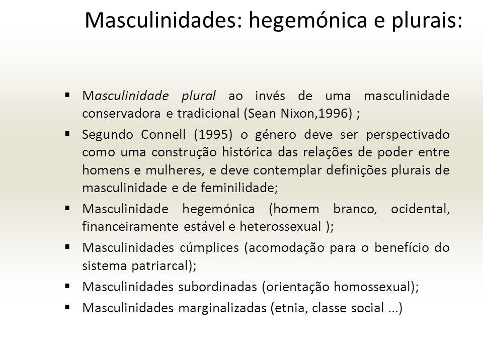 Masculinidades: hegemónica e plurais:
